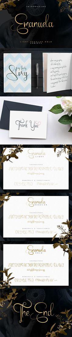 Emanuela Typeface and Designs - Script #Fonts