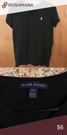 Black V neck Comfy black V neck you can dress up or down! Lightly worn. Ralph Lauren size M Ralph Lauren Tops Tees - Short Sleeve
