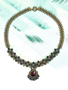 Issue 20 - Perlen Poesie - Monet's Water Lillies Necklace by Starman TrendSetter Penny Dixon