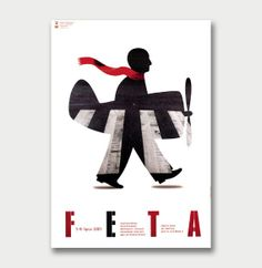 "Joanna Górska, Poland.  ""Feta. Young theatre festival""  honourable prizes;18th International Poster Biennale, Warsaw 2002"