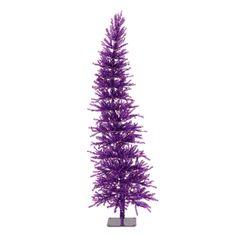 Purple Dazzling Diva Tinsel Christmas Tree