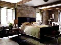 lovin that rock wall and those earth tones!