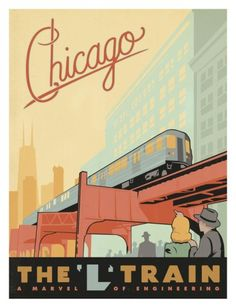 #Vintage Posters - Chicago