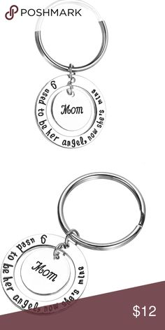 🆕 (J25) Mom Angel Keychain Mom I used to be her angel now she's mine Jewelry