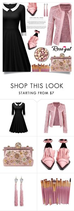 """""""Rosegal  New contest!"""" by nejra-l ❤ liked on Polyvore featuring Dolce&Gabbana, Marques'Almeida, Mignonne Gavigan and Handle"""