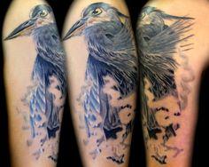 Blue Heron tattoo by Chloe Vanessa