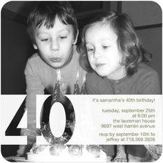Adult Birthday Party Invitations Clear Sighted - Front : White