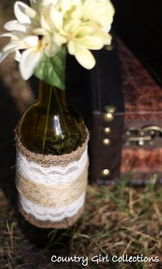 Burlap & Lace Wedding Decor By Country Girl Collections