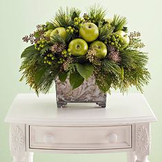 Love the apples in this centerpiece