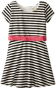 Speechless Little Girls Stripe Popover Dress BlackFuchsia 6 >>> Check out the image by visiting the link.
