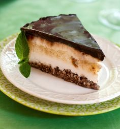 I developed this wonderful frozen chocolate coconut cake to accommodate Kosher diners after a meat meal as well as dairy-intolerant diners. You will love