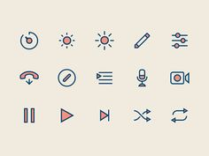 Line / Fill icons
