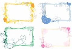 vector set floral frames