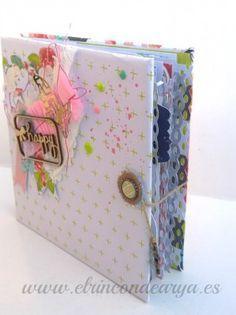 "Tutorial mini álbum de sobres  – ""Happy""                              … Mini Albums Scrap, Mini Scrapbook Albums, Diy Scrapbook, Smash Book, Project Life, Diy Projects To Try, Craft Projects, Baby Mini Album, Pocket Letters"