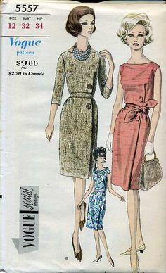 Vogue 5557 - Vintage Sewing Patterns