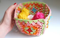 DIY granny basket by julie ♥ adore, in French