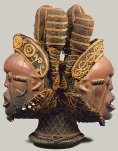 Janus headdress (Nkuambok) 19th–20th century  Nigeria, Cross River region  Boki peoples
