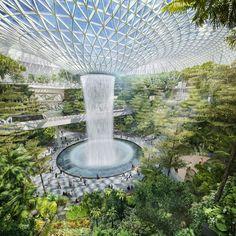De nieuwe terminal van Singapore Changi Airport wordt een toeristische bestemming op zich!