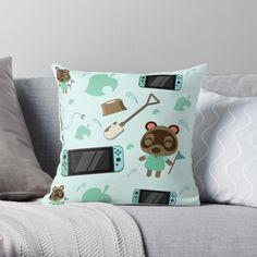 Designer Throw Pillows, Pillow Design, Animal Crossing, Nintendo Switch, My Arts, Art Prints, Printed, Awesome, Interior