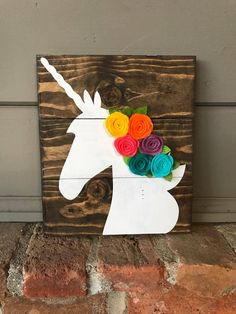 Unicorn Sign | Kids Room Sign | Rainbow Sign | Unicorn Wood Sign | Wooden Signs | Rustic Wood Sign | Girls Nursery Sign by FallingInRustic on Etsy https://www.etsy.com/listing/568093847/unicorn-sign-kids-room-sign-rainbow-sign