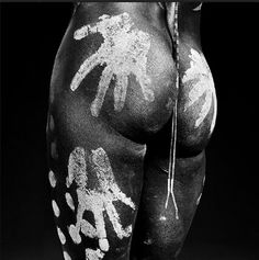 The piece below is a striking photograph by renowned Spanish photographer Isabel Muñoz. Muñoz is known for bold black and whites that are achieved through a handmade and meticulous development process.    http://quietlunch.com/hands-on-nsfw/#