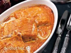 Filé+na+cibuli Fish And Meat, Meat Recipes, Thai Red Curry, Peanut Butter, Turkey, Food And Drink, Ethnic Recipes, Recipies, Turkey Country