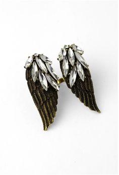 Wings Shape Crystal Ring