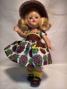 Vintage Vogue Ginny Strung in Pinapple Dress