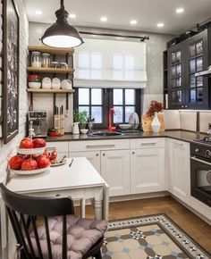 Interior design kitchen l shape and kitchen design zen type. Living Room Kitchen, Living Room Modern, Kitchen Dining, Kitchen Decor, Le Logis, Sweet Home, Kitchen Flooring, Kitchen Ceilings, Interior Design Kitchen