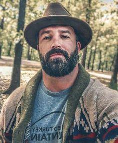 New hair men hot beards ideas Hot Beards, Great Beards, Awesome Beards, Beard Styles For Men, Hair And Beard Styles, Hair Styles, Scruffy Men, Hairy Men, Moustache