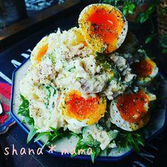 抱えて食べたい♪ごろごろ半熟卵とツナのポテトサラダ♪ レシピブログ