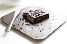 RECIPE: Vegan Raw Chocolate Brownie  http://roarfood.co.nz/blog/2013/07/24/raw-chocolate-brownie/