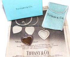 1980 Tiffany & Co. Heart Charm Pendant 18K Gold Insert 925 Sterling Silver Box #TiffanyCo