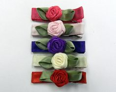 Rosette Hair clip set ISC1930S by ShaileeBoutique on Etsy