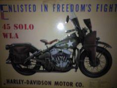 Minted old war bike.