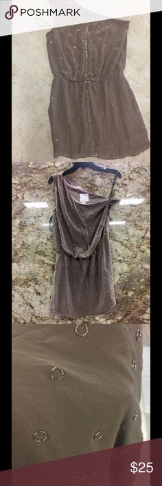 Aron K. Dress 💯 silk one shoulder Great condition Dresses Mini
