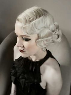 Vintage Hairstyles Retro Superb Fingerwave Modern vintage Hair and make-up by Flamingo Amy The post Fingerwave Modern vintage Hair and make-up by Flamingo Amy… appeared first on Iser Haircu . - Fingerwave Modern vintage Hair and make-up by Flamingo Amy Retro Hairstyles, Wedding Hairstyles, Braided Hairstyles, Bridesmaid Hairstyles, Bob Hairstyle, Amy, Bridesmaid Hair Vintage, Pelo Retro, Fashion Mode