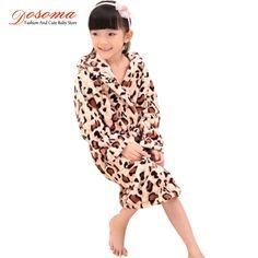 Girls coral cashmere children's bathrobes
