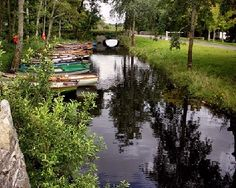 A quiet nook in Ireland where traditional boats are docked.