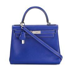 Hermès Vintage Blue Leather Birkin Tote Bag