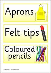 Yellow classroom resource labels (SB9452) - SparkleBox