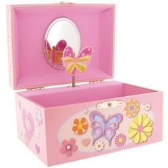 Mele Children's Heart & Twirling Butterfly Musical Jewellery Trinket Box - For Hayley ? $48.64