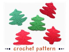 Fir Trees by stephanie | Crocheting Pattern - Looking for your next project? You're going to love Fir Trees by designer stephanie. - via @Craftsy