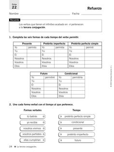 #ClippedOnIssuu from 33009195 refuerzo y ampliacion lengua 4 primaria 121026032108 phpapp02 Spanish Worksheets, Spanish Class, Teaching Resources, Sheet Music, Homeschool, Language, Classroom, Student, Education