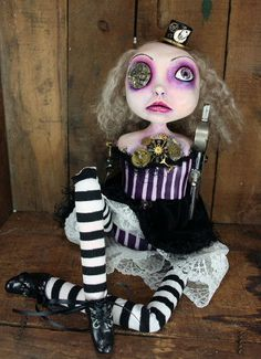 Steampunk Souls Mixed Media Art Doll Charlotte    ...BTW,Check this out:  http://artcaffeine.imobileappsys.com
