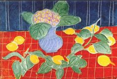 """Original period tipped-in offset lithograph after the painting """"Les Citrons"""" (Lemons, by Henri Matisse. Comes from first and limited edition folio of the artist printed in Geneva, Switzerland by Albert Skira in the Information about the origina. Henri Matisse, Matisse Paintings, Principles Of Design, Art Moderne, Teaching Art, Teaching Ideas, Print Artist, French Artists, Beautiful Paintings"""