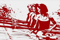 women rowers silhouette by The Happy Rower, via Flickr