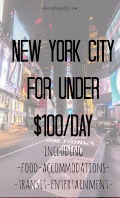 I guess a trip to New York City really is possible on a frugal budget! Love the tips she used to do it for under $100/day--including her hotel!