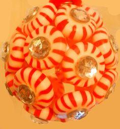 Christmas Craft 15 : Peppermint Candy Ball Tutorial