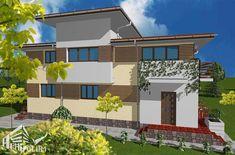 Case cu latimea de 7 metri - 3 proiecte generoase - Case practice Utila, Home Fashion, Modern Design, Real Estate, Exterior, Mansions, House Styles, Home Decor, Houses